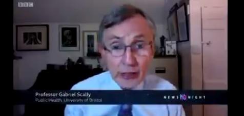 Gabriel Scally tackling herd immunity on newsnight