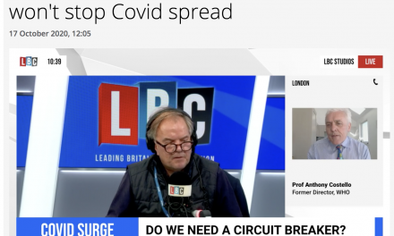 Anthony Costello talks to Matt Frei on LBC Radio about circuit breakers