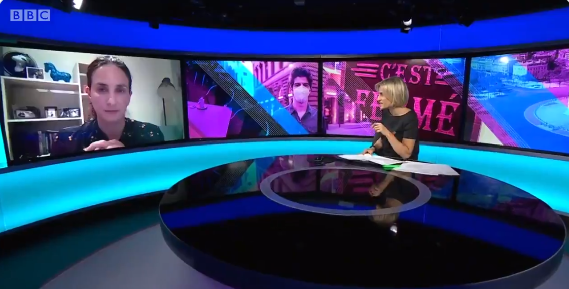 Christina Pagel discusses situation in Europe on BBC Newsnight