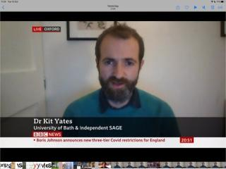 Kit Yates talks to BBC about the new tiers for Covid restrictions