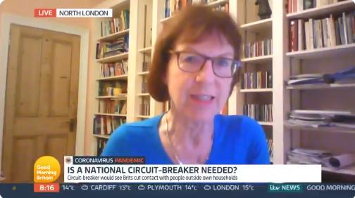 "Susan Michie discussing a ""circuit break"" on Good Morning Britain"