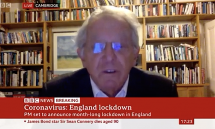 Sir David King talks to BBC News about England Lockdown