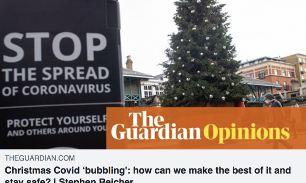 Stephen reicher writes in the guardian about staying safe at christmas