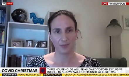 Christina Pagel on Sky News discussing Tiers and Christmas