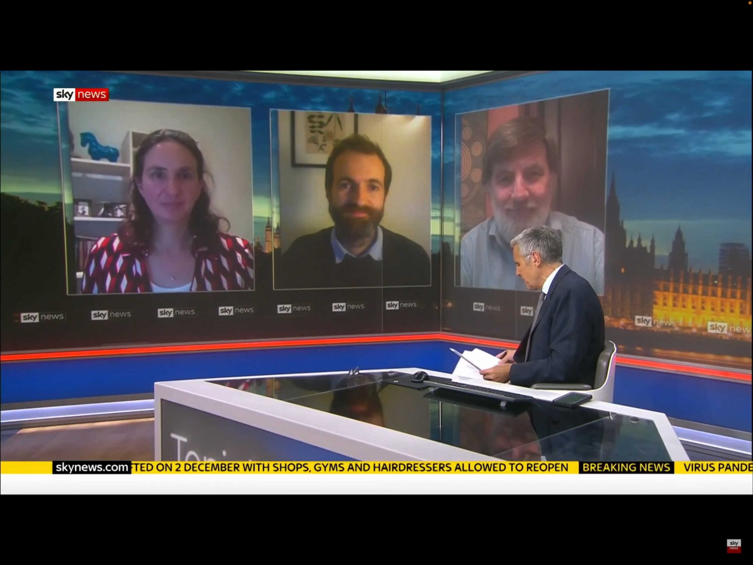 Kit yates and Christina Pagel discuss Covid on Sky News