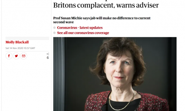 Susan Michie highlighted in The Guardian
