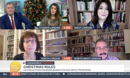 PRofessor susan michie discussing christmas restrictions on good morning britain