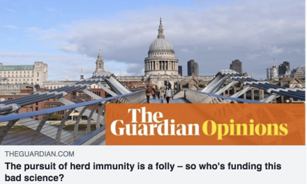 opinion piece on herd immunity in the guardian by Martin Mckee