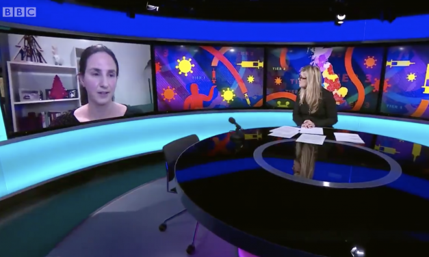 Christina pagel talks to bbc newsnight about risks of easing restrictions at christmas