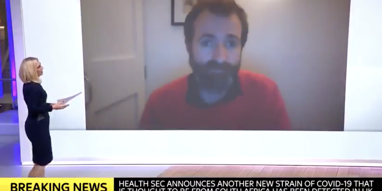 Dr kit yates interviewed on sky news about new covid variant and the need to act quickly