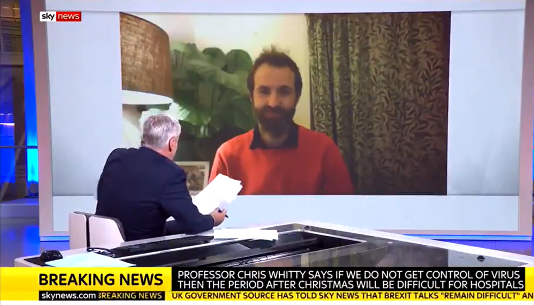 Kit Yates interviewed on Sky News about spread of Covid in London