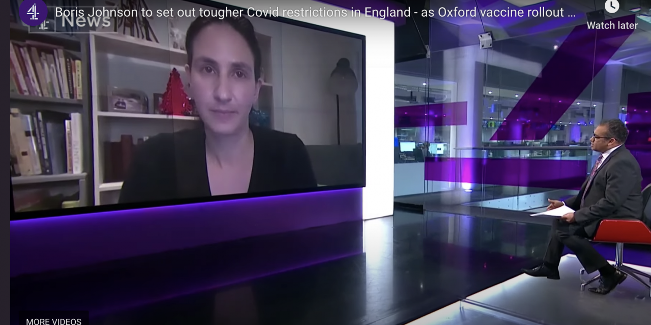 Christina pagel interviewed on channel 4 news about new lockdown