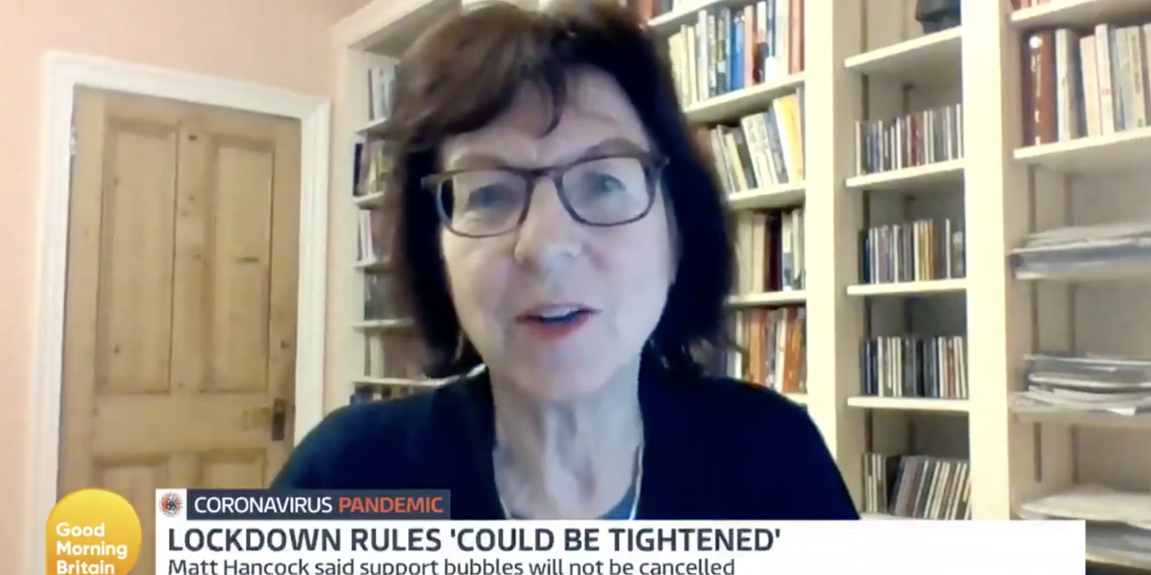 Susan michie on Good morning britain discussing how government policies are creating super-spreader events