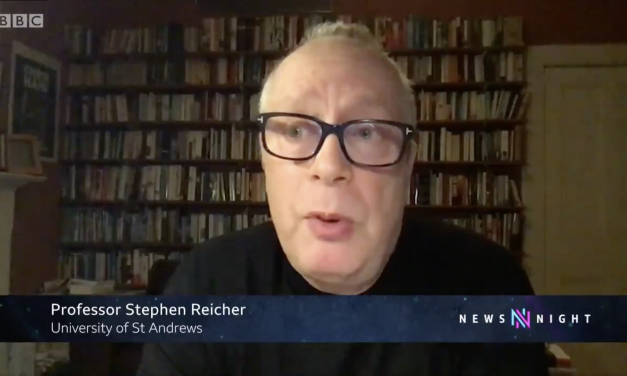 stephen reicher interviewed on bbc newsnight about levels of public compliance