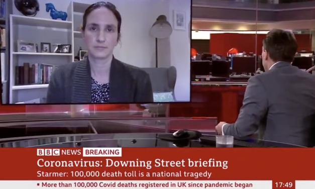 'It's a tragedy': Christina pagel reacts to milestone of 100,000 official deaths on BBC news