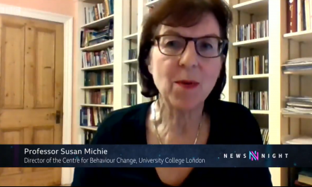 Susan Michie on BBC Newsnight discussing lockdown