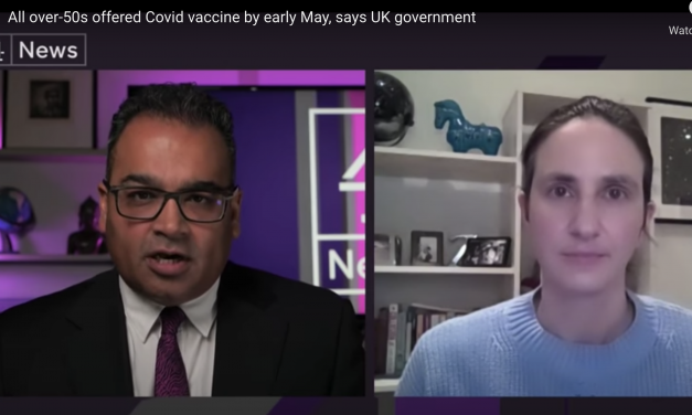 Christina pagel talks about vaccines and new variants on Channel 4 news