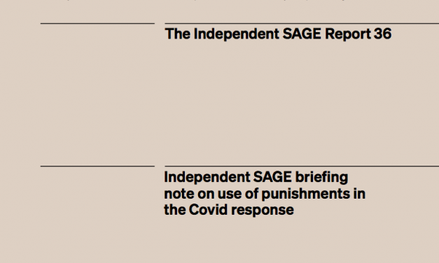 Independent SAGE briefing note on use of punishments in the Covid response