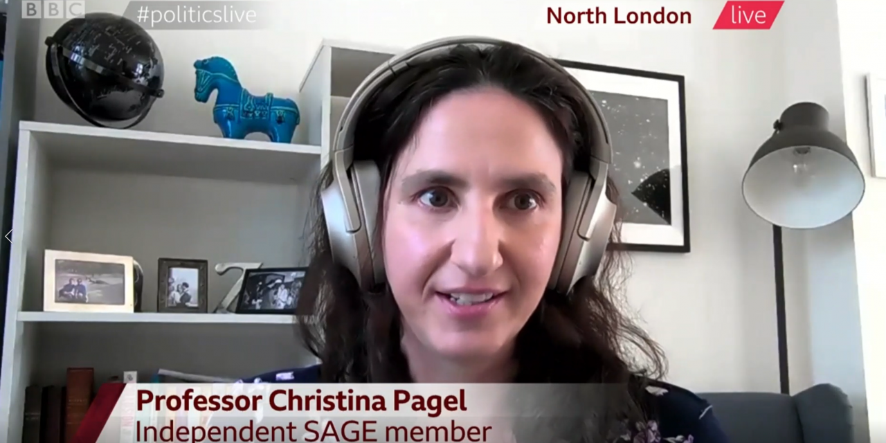 Christina Pagel talks to BBC Politics LIVE about coming out of lockdown