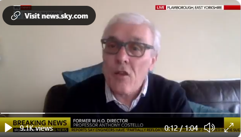 Anthony Costello talks to Sky News about contact tracing