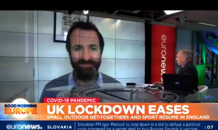 Kit Yates talks to EURO News about easing lockdown