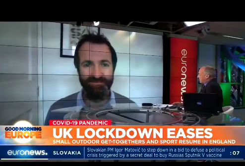 Kit Yates talks to EURO News about easing lockdown