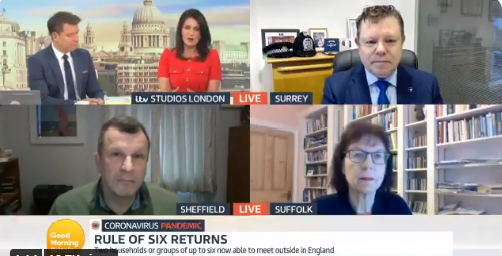 Susan Michie on Good Morning Britain discussing easing of lockdown
