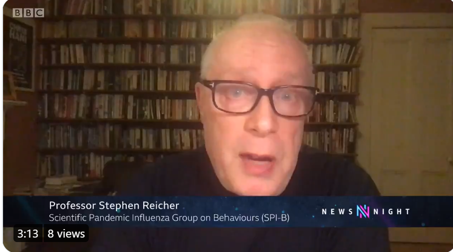 Steve Reicher talks to Newsnight about AZ vaccine