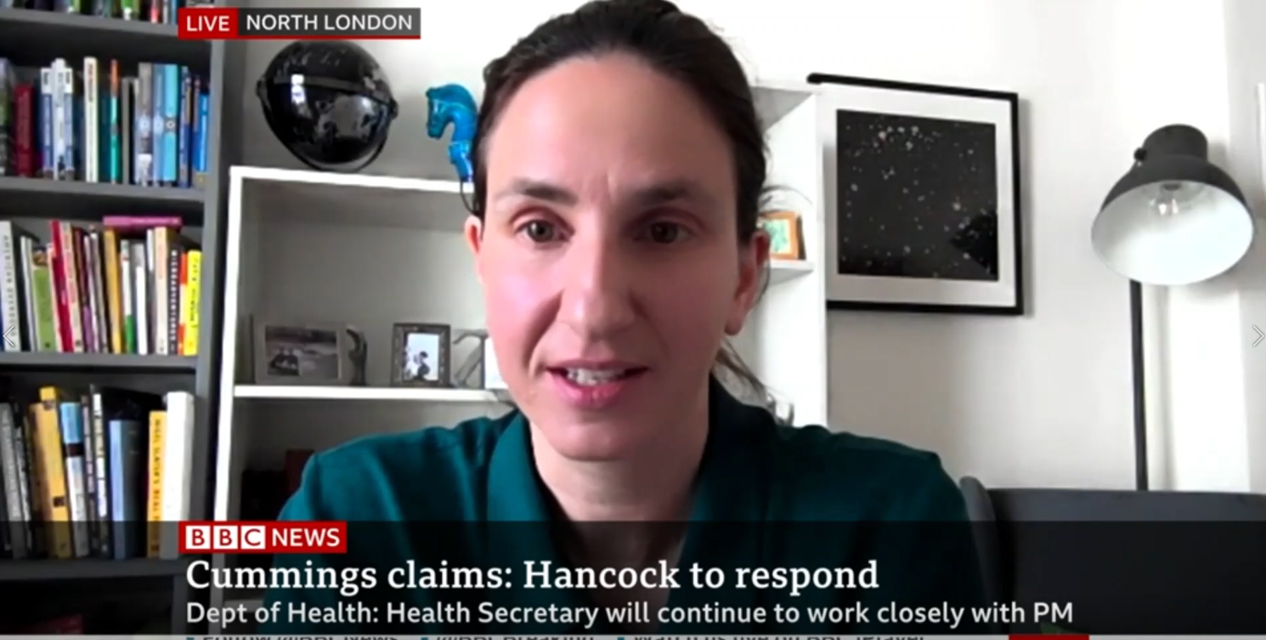 Christina Pagel talks to BBC NEws about Cummings testimony