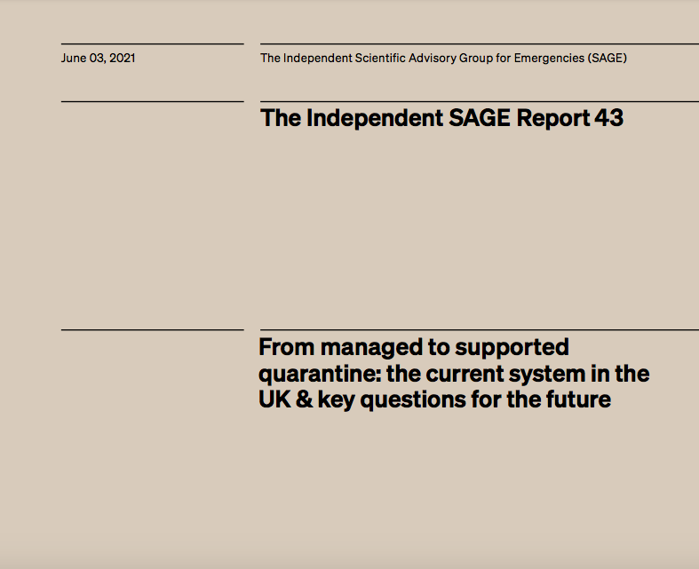 From managed to supported quarantine: the current system in the UK & key questions for the future