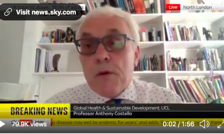 Anthony costello talks to sky news about the critical importance of infection control