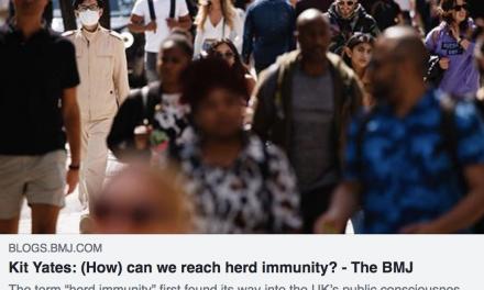 Kit yates writes on herd immunity in the bmj