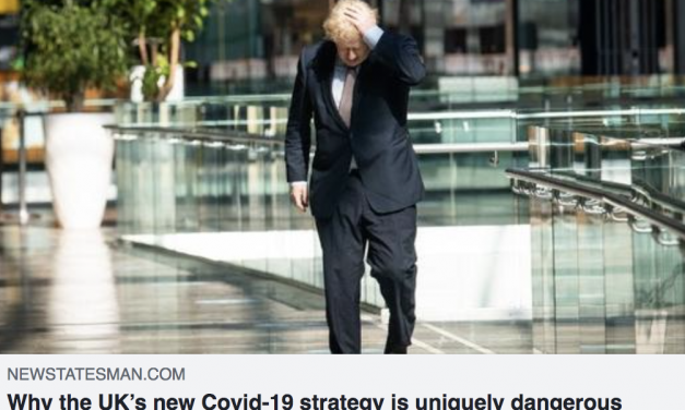 'History is being made' GAbriel scally writes about dangers of UK's new covid strategy in the new statesman