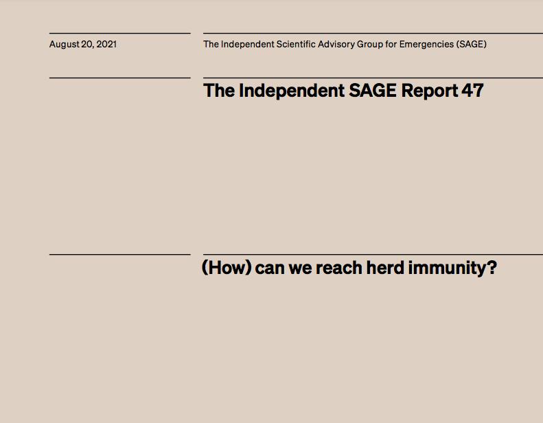 (How) can we reach herd immunity?